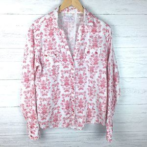 Panhandle Slim White and Red Floral Print Shirt